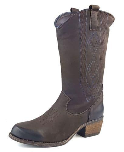 Wrangler Carson Hi Dark Brown Boots